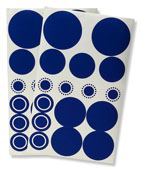 Bobee decoratie stickers blauw