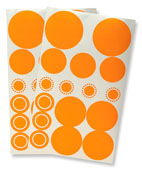 Bobee decoratie stickers oranje